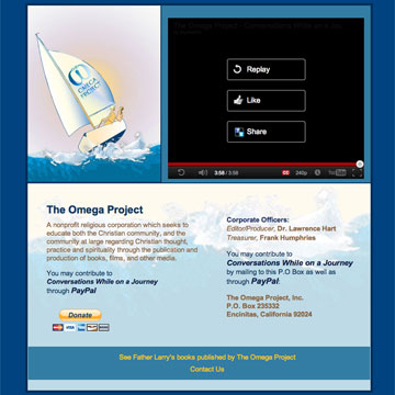 Image of the Omega Project website home page
