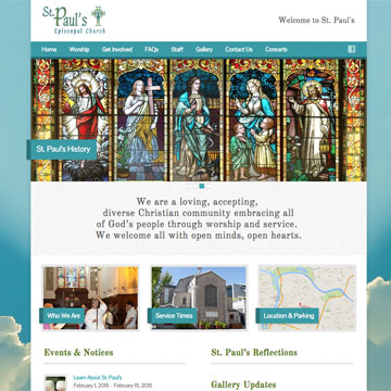 image of St. Paul's home page