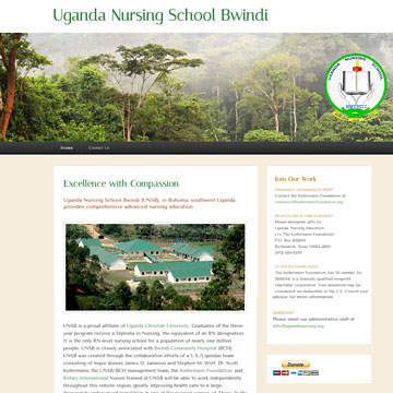 Image of Uganda Nursing School website