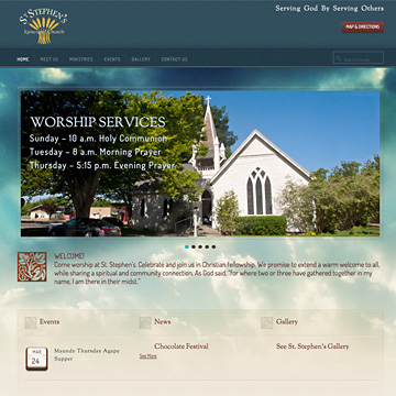 Image of St. Stephen's website